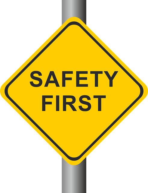 yellow square diamond safety first street sign vector