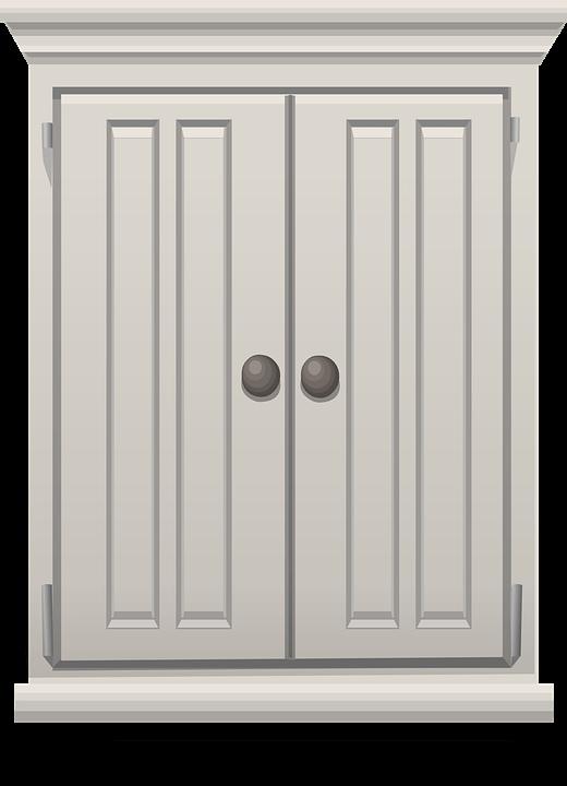 cartoon image of a cupboard
