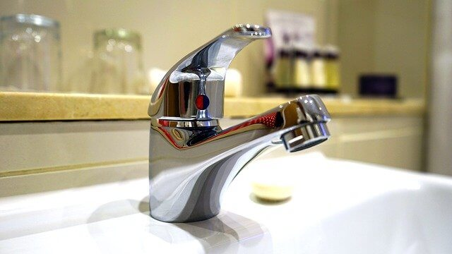 clean stainless steel bathroom faucet