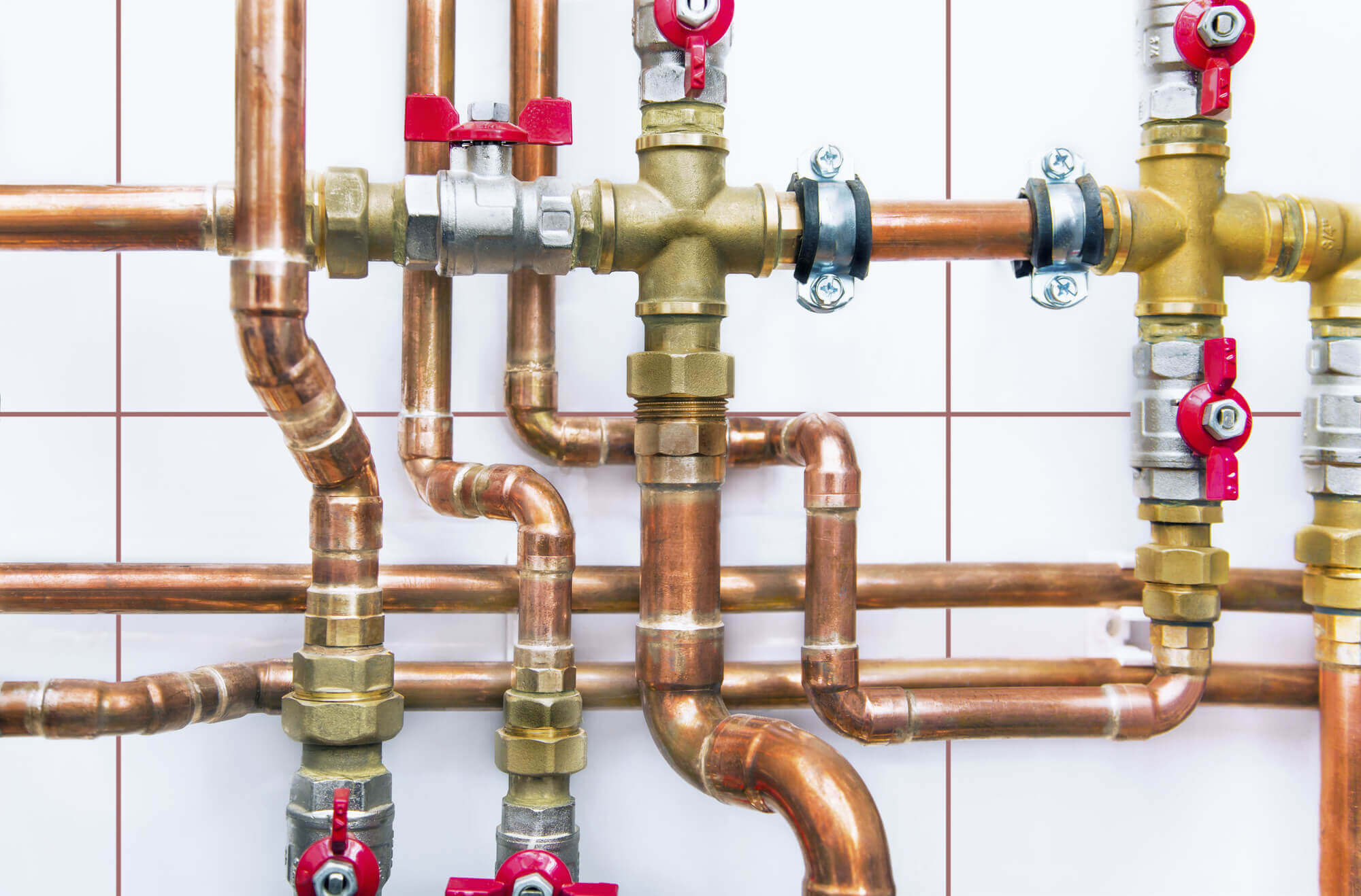 beautifully arranged copper piping
